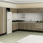 cocina diseño melamina gris