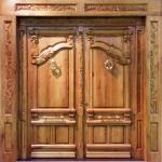 puerta madera artesana