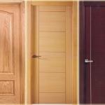 puerta interior barnizada