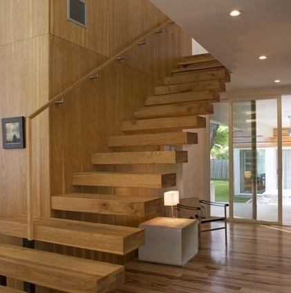 Escaleras de madera for Escaleras 7 escalones