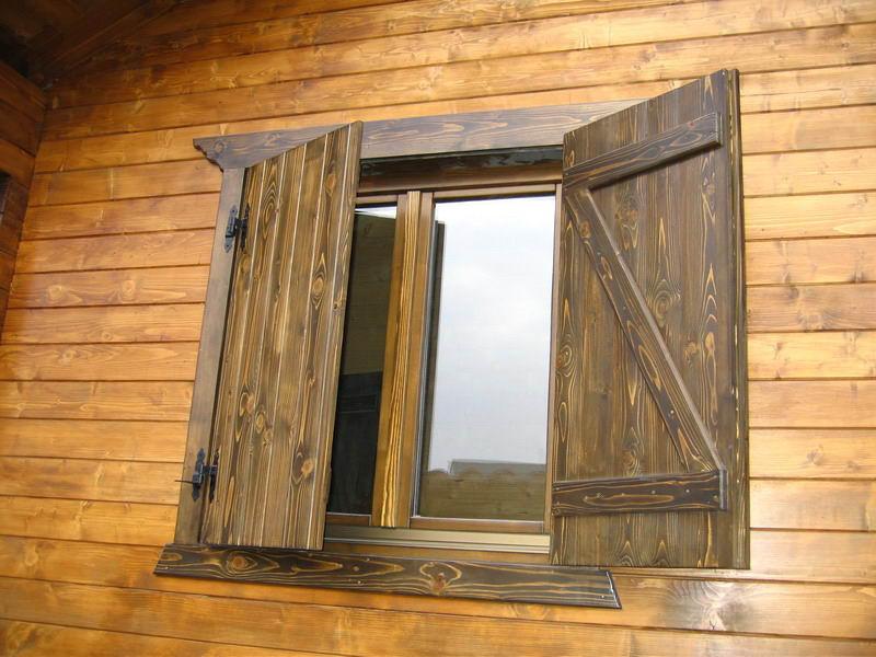 Ventanas de madera for Como hacer puerta rustica